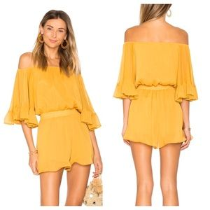 Endless Rose Yellow Ruffled Sleeve Romper